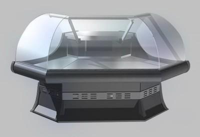 Холодильная витрина Lida KANDI (угол внешний)