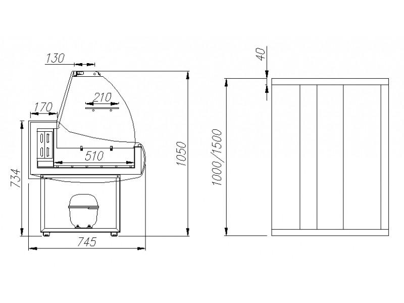 витринных холодильников схемы